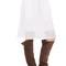 Cotton blend eyelet skirt