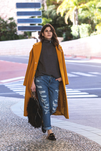 the fashion fraction blogger jeans coat sweater bag jewels