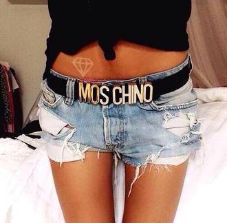 shorts denim shorts denim ripped jeans sexy summer outfits pocket design light blue belt
