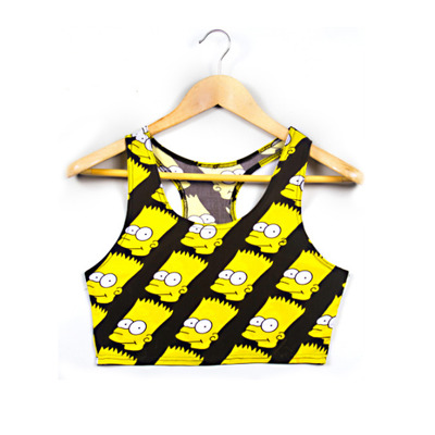 BART SIMPSON CROP TANK TOP  · So Hazy · So Hazy Online