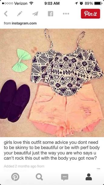 shorts shirt top