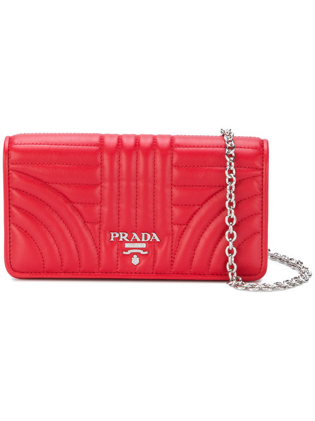 cross women bag leather red