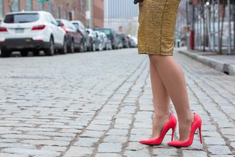 shoes coral pumps heels