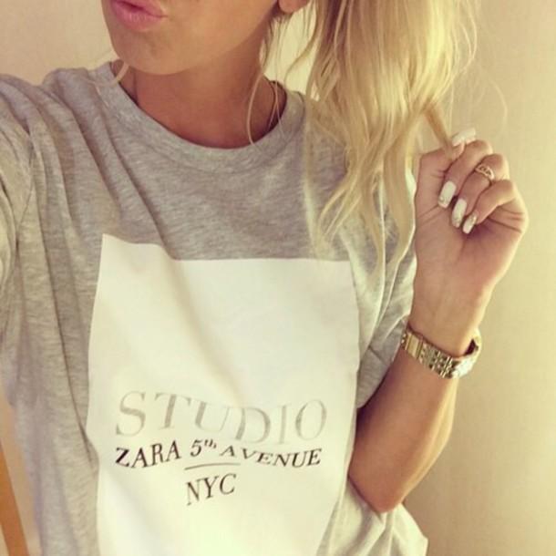 zara blogger blogger trend zara top zara inspired sweater style t-shirt blouse