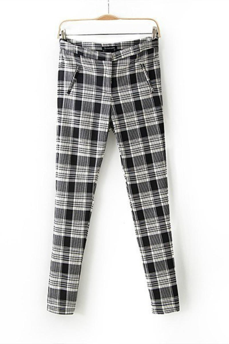 2013 Autumn & Winter New Section Plaids Stretch Long Pants,Cheap in Wendybox.com
