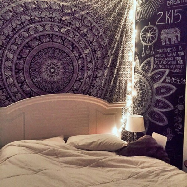 Elephant wall hanging wall decoration mandala tapestry for Accessoire decoration