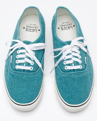 denim shoes blue top vans sneakers lace up