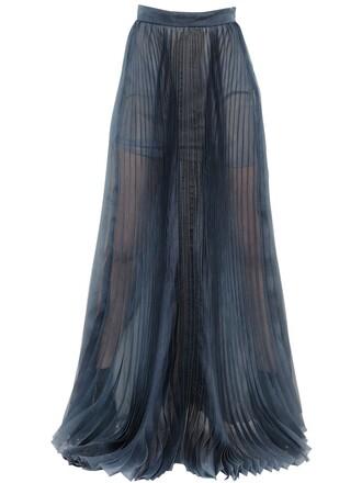 skirt silk dark green
