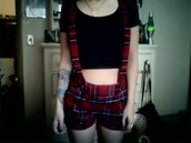 pants,tartan,checkered,clueless,dungarees,pinafore,tumblr,soft grunge