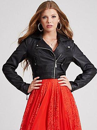 Katy Long-Sleeve Jacket at Guess