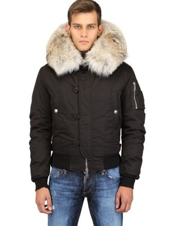 jacket dsquared2 dsquared fur down jacket