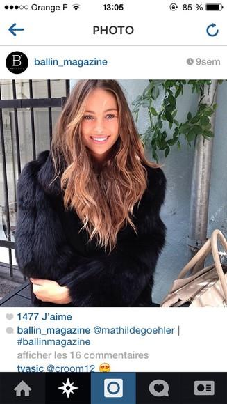 coat fur coat black fur coat