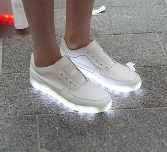 shoes white light lighting neon fashion sexy night clubwear sneakers givenchy