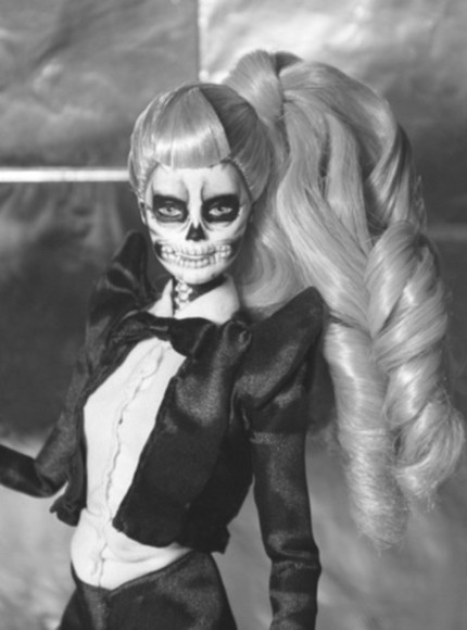 lady gaga black bag barbie skeleton born this way