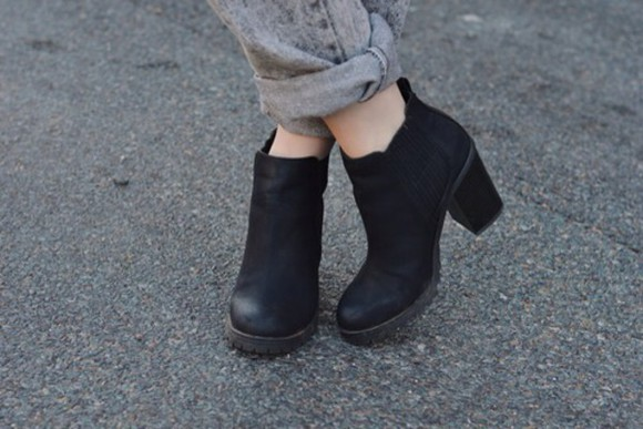 boots black black boots ankle boots