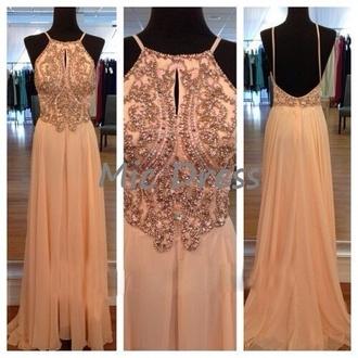 dress prom dress beads open back spagetti straps love that dress grecian dress beaded dress chiffon dress