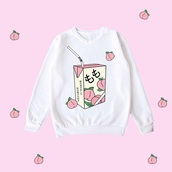 sweater,kawaii,cute,pastel,japan,japanese,lolita,warm,shirt,fluffy,harajuku,pink,cats,peach,milk t-shirt,white sweater