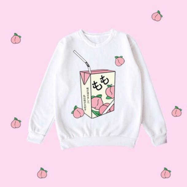 c320f97e0 sweater kawaii cute pastel japan japanese lolita warm shirt fluffy harajuku  pink cats peach milk t