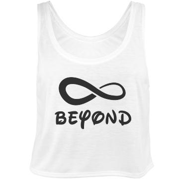 Best Friends Beyond: Custom Bella Flowy Boxy Lightweight Crop Top Tank Top - Customized Girl