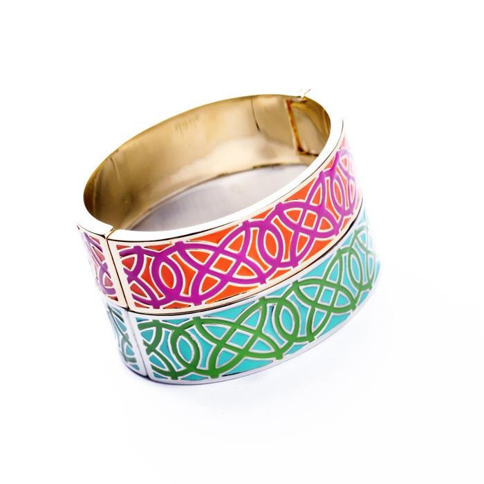 Unique Pattern Metal Ring Bracelet [FWBJ00264] - PersunMall.com