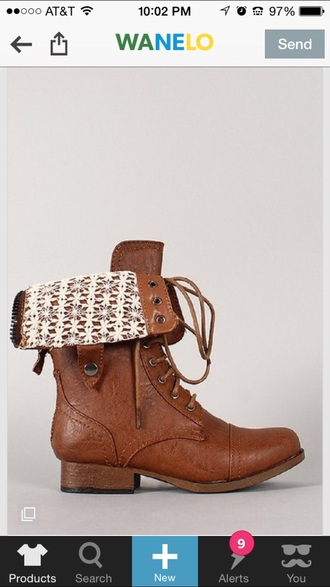 shoes brown combat boots