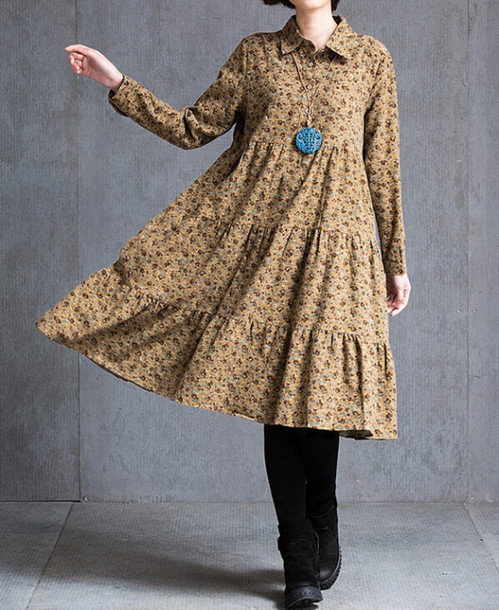 dress floral long dress