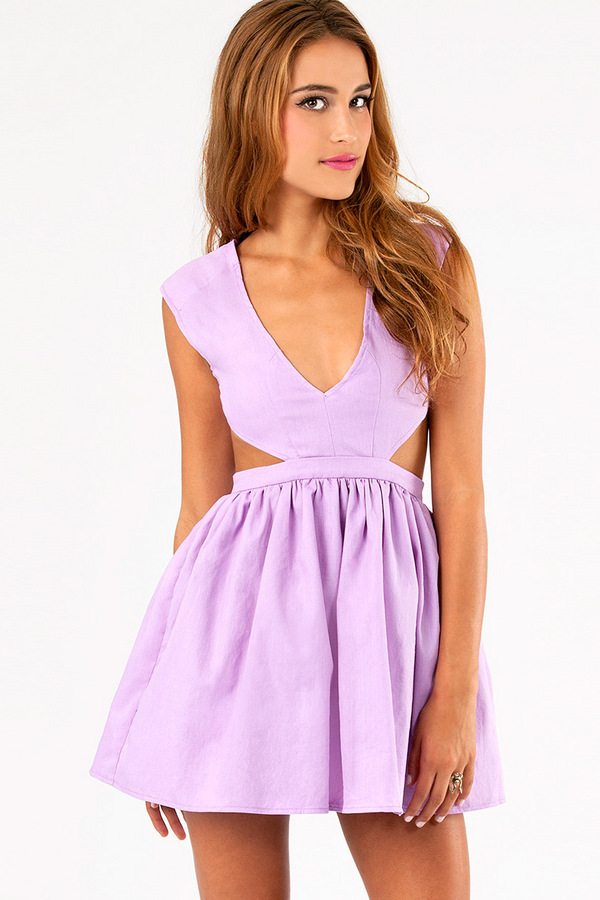 Schrock Frock Cutout Dress - Tobi