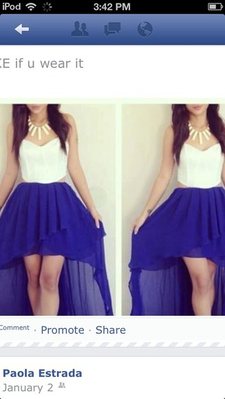 dress open sides clothes cut-out high-low dresses high-low blue skirt bustier dress white corset dress prom dress tank top