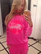 barbie,sportsuit,homewear,fleece