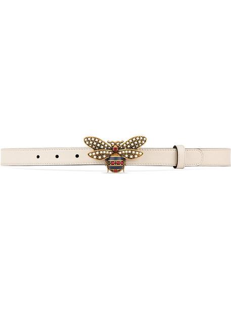 gucci metal women belt leather white