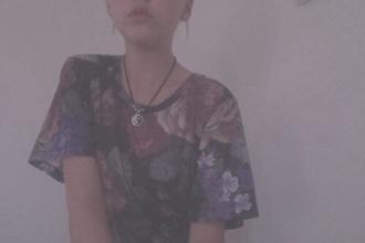 shirt flowers grunge t-shirt