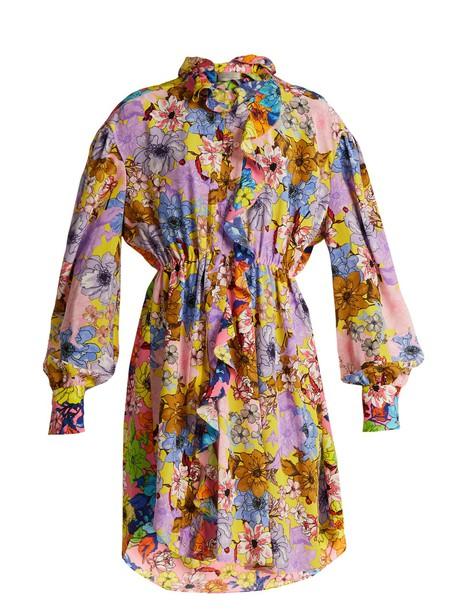dress print dress floral print pink