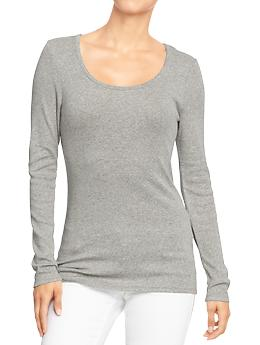 Women's Long-Sleeved Scoop-Neck Tees | Old Navy