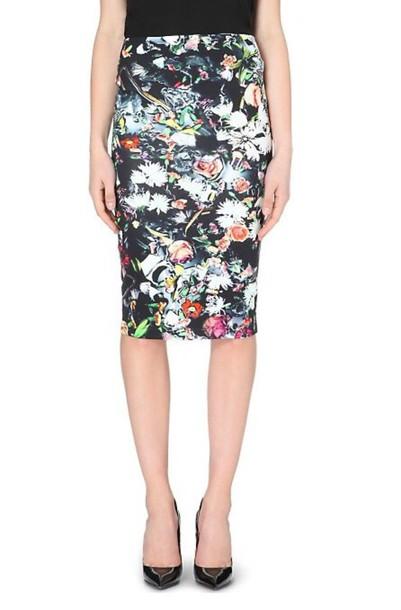 skirt alexander mcqueen mcq pencil skirt floral skirt