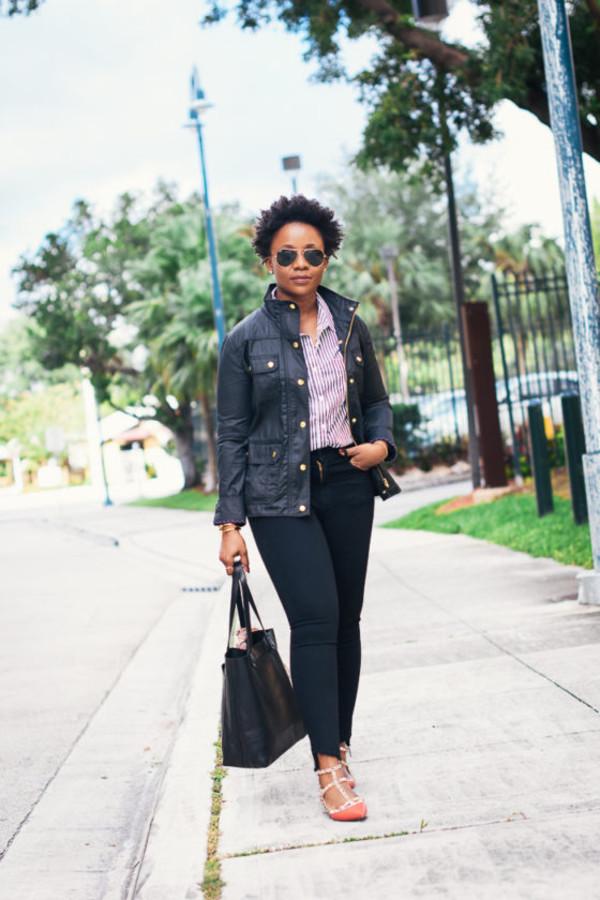 pinksole blogger sunglasses jewels jacket shirt jeans shoes bag scarf make-up