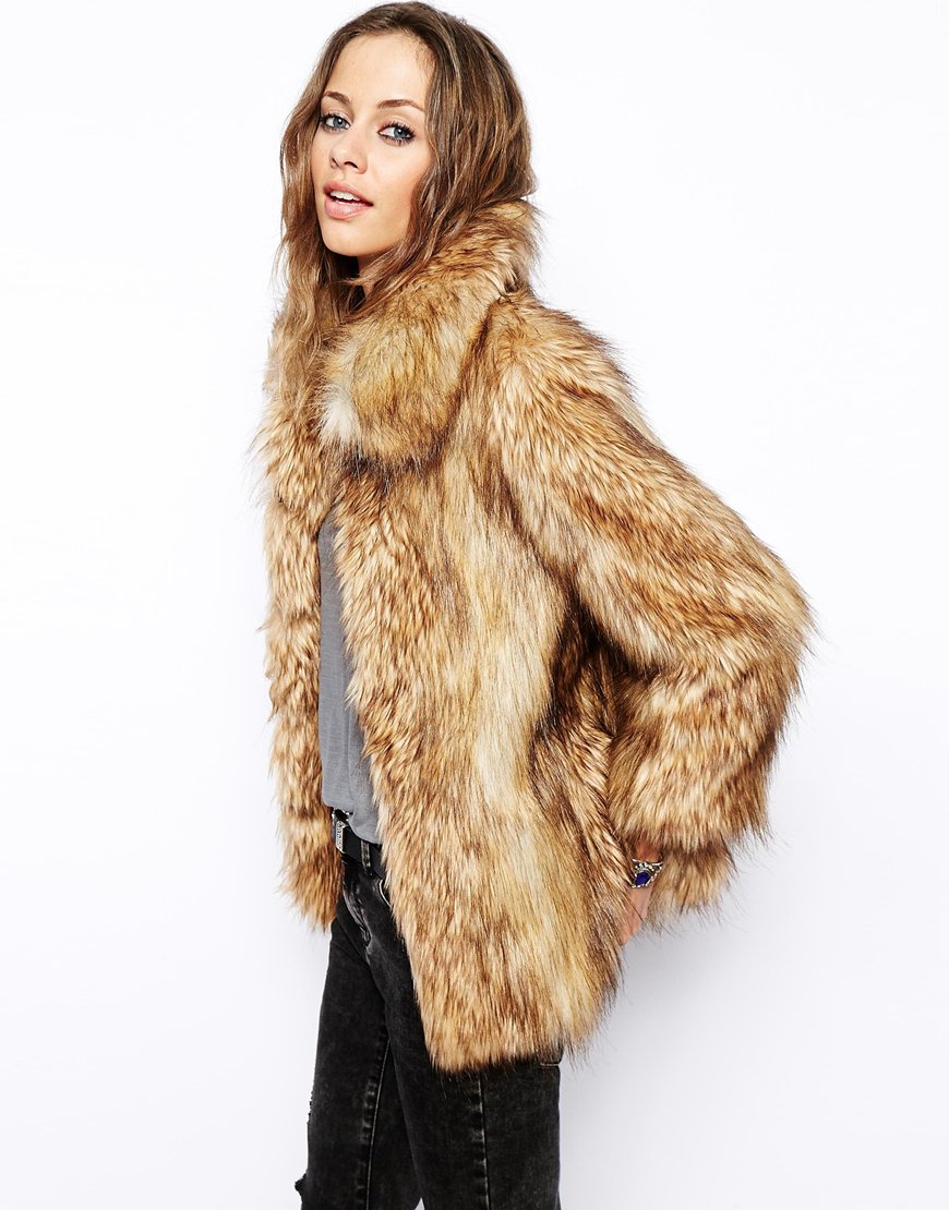Asos vintage faux fur coat at asos.com