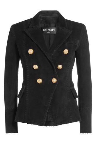 blazer suede black jacket