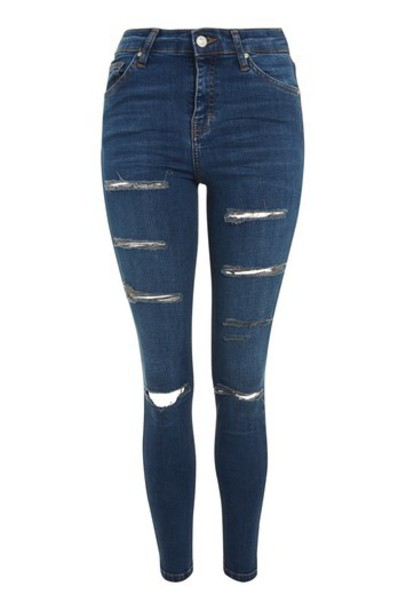 Topshop jeans ripped