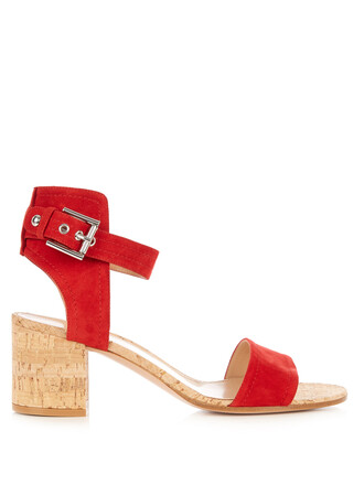 heel sandals red shoes