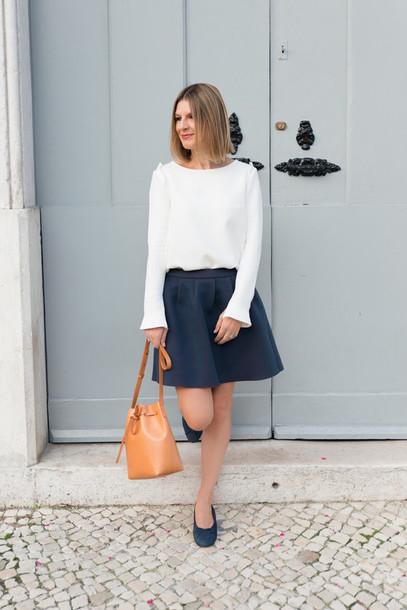 the working girl blogger top bag skirt