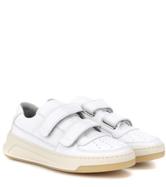 Acne Studios Steffey leather sneakers in white