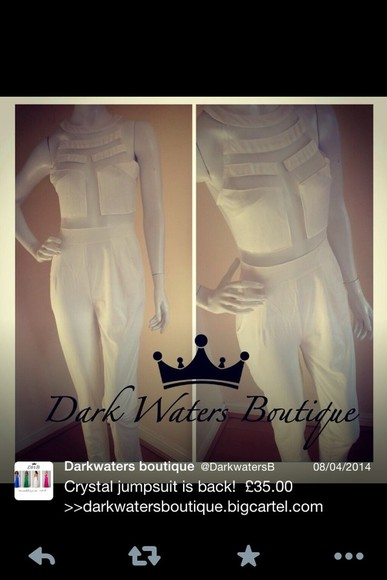 jumpsuit white pants white jumpsuit mesh cut outs