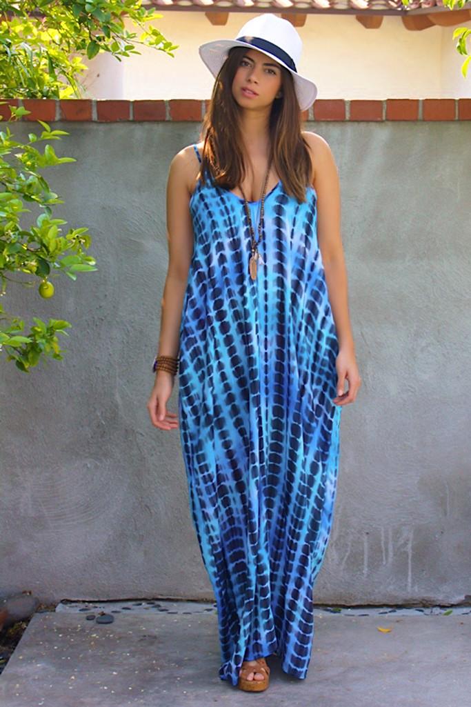 Underwater maxi dress