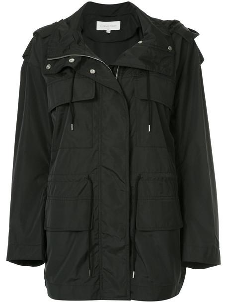 Ck Calvin Klein parka women black coat