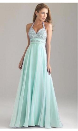 dress mint prom prom dress prom gown glitter