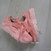 shoes,pastel sneakers,nike shoes,huarache,style,fashion,trendy,pastel,sneakers,peach,nike,nike running shoes,nike sneakers,sports shoes,running shoes,stylish,cool,nike air huarache,nike air,adidas air huraches??,pastel pink,nike air huaraches,baby pink,cute,pink,beige,nude,girly,pink sneakers,salmon,nike huarache pink