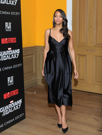 dress little black dress zoe saldana