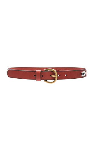beaded belt brown