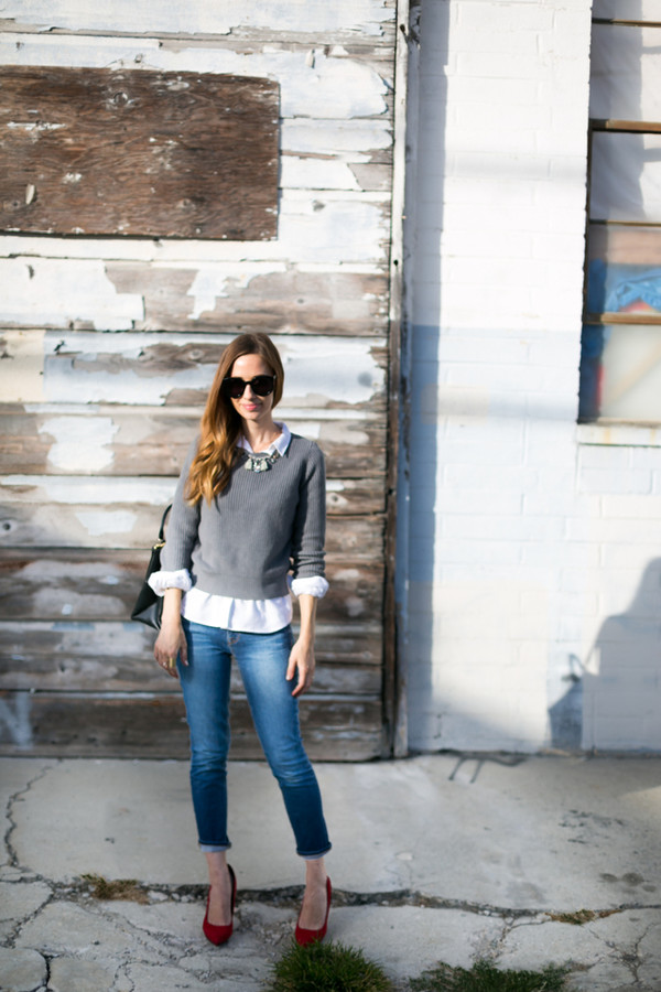 m loves m blogger top jeans shoes bag sunglasses jewels