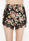 Floral lace splicing shorts